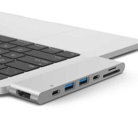 macbook pro dock adapter usb-c hdmi silver