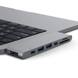 MacBook Docking Station sideview zoom space gray