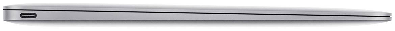 MacBook met 2x Thunderbolt 3 sideview - voorbeeld voor USB-C Adapter voor MacBook