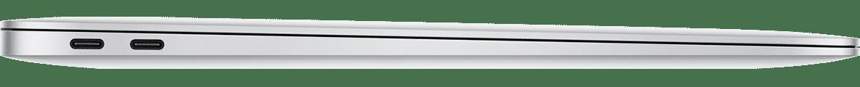 MacBook Air met 2x Thunderbolt 3 sideview - voorbeeld voor USB-C Adapter voor MacBook Air