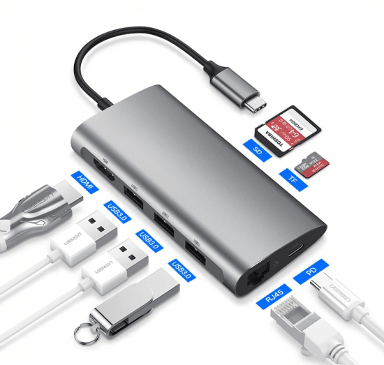 usb c hub all portnames