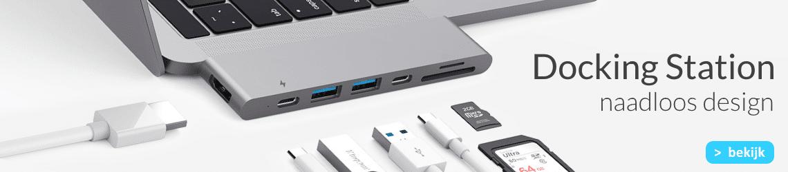 MacBook Docking Station (dock) kopen? Geschikt voor USB-C en Thunderbolt 3 bij USB-C-Adapters.nl, dé USB-C adapters speciaalshop