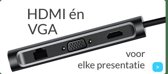 USB-C Hub met HDMI en VGA kopen