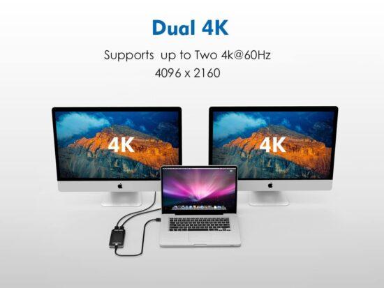Thunderbolt 3 naar Dual HDMI - Dual Display - voor laptops en MacBook - twee beeldschermen