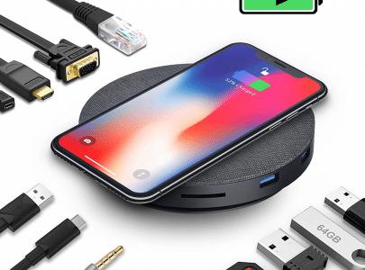 Een USB-C Hub én een draadloze oplader van je telefoon!
