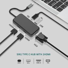 USB-C naar 2 x Hdmi