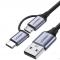 2-in-1 USB-C naar Micro USB en  USB-A kabel
