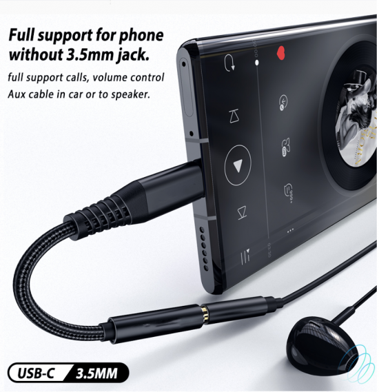 usb-c naar audio