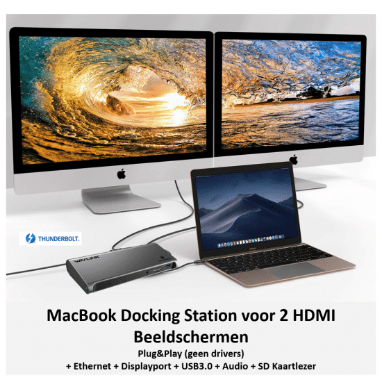 Thunderbolt 3 docking station 2 x hdmi