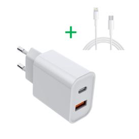 USB-C oplader 20W bundel