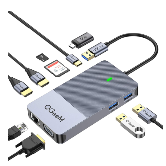 Displaylink Universal Hub 2 x HDMI 1 x VGA